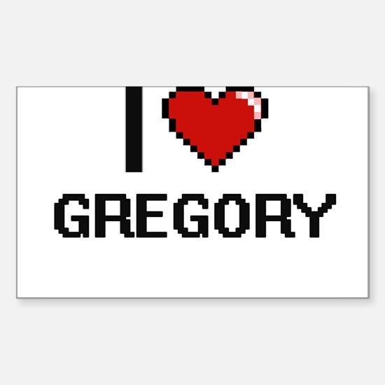 I Love Gregory Decal