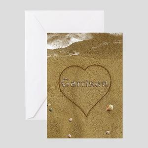 Garrison Beach Love Greeting Card