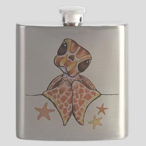 Baby Brown Starfish Flask