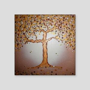 """Copper Tree Square Sticker 3"""" x 3"""""""