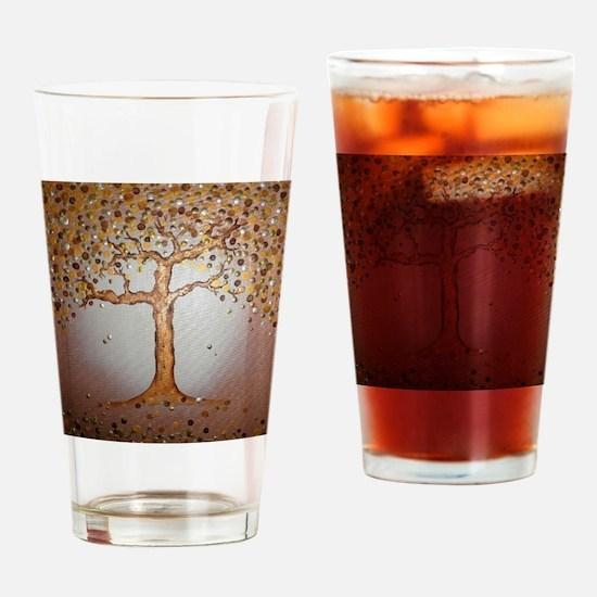 Copper Tree Drinking Glass