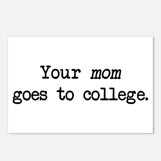 Your Mom Goes to College - Blk Postcards (Package