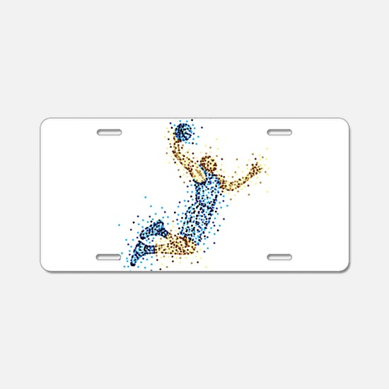 Basketball Player in BLUE U Aluminum License Plate