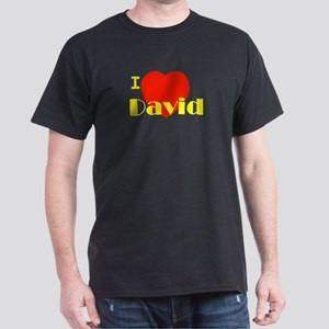 I Love David Dark T-Shirt