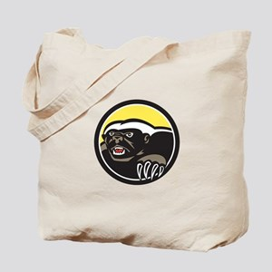 Honey Badger Claws Side Circle Retro Tote Bag