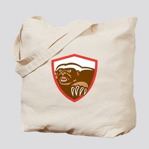 Honey Badger Claws Side Shield Retro Tote Bag