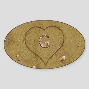G Beach Love Sticker (Oval)