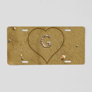 G Beach Love Aluminum License Plate