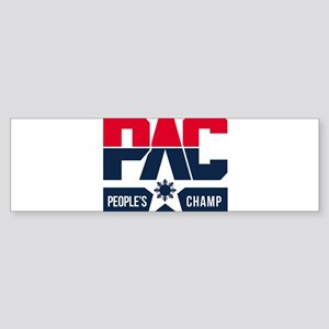 Pac People's Champ Bumper Sticker