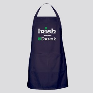 Irish I Were Drunk Maternity Design Apron (dark)