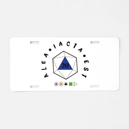 "Alea iacta est ""The di Aluminum License Plate"