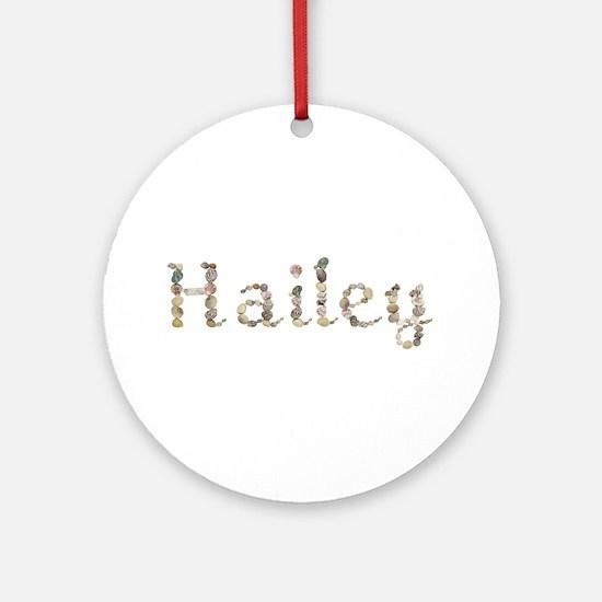 Hailey Seashells Round Ornament
