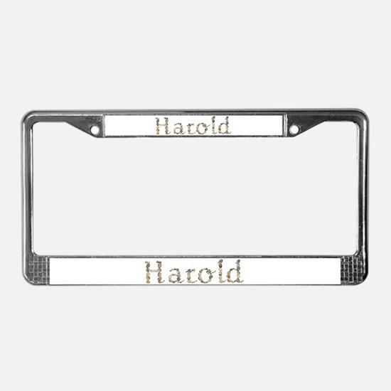 Harold Seashells License Plate Frame