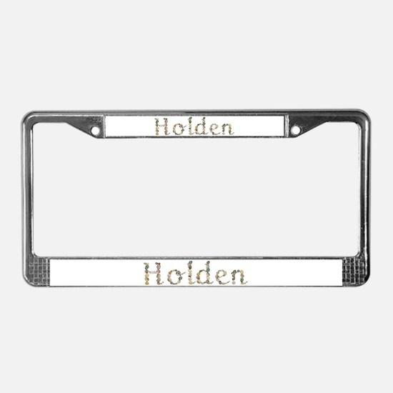 Holden Seashells License Plate Frame