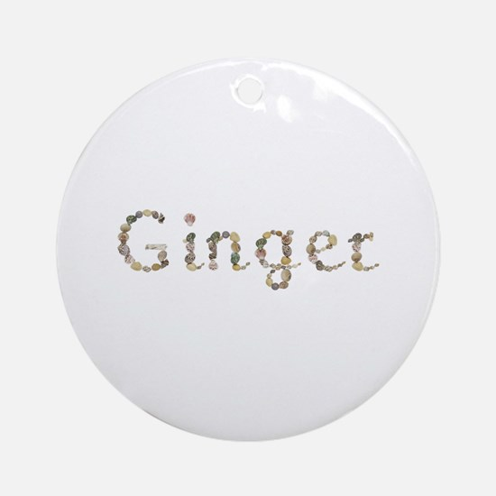 Ginger Seashells Round Ornament