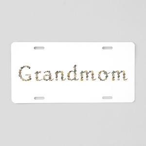 Grandmom Seashells Aluminum License Plate
