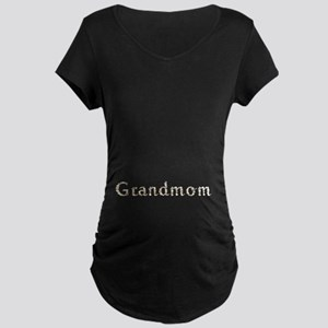 Grandmom Seashells Maternity Dark T-Shirt