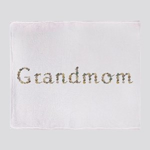 Grandmom Seashells Throw Blanket