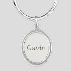 Gavin Seashells Silver Oval Necklace