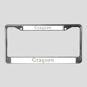 Grayson Seashells License Plate Frame