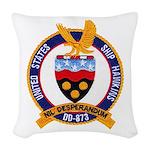 USS HAWKINS Woven Throw Pillow