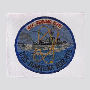 USS HAWKINS Throw Blanket