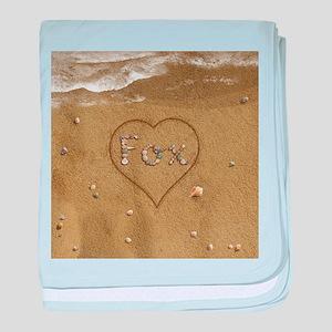 Fox Beach Love baby blanket