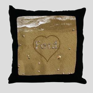 Ford Beach Love Throw Pillow