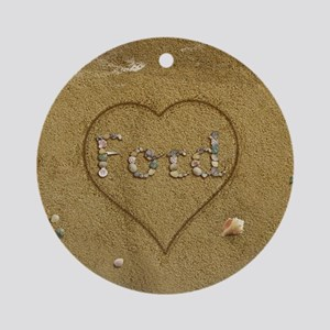 Ford Beach Love Ornament (Round)