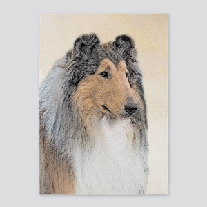 Collie (Rough) 5'x7'Area Rug
