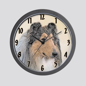 Collie (Rough) Wall Clock