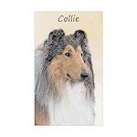 Collie (Rough) Sticker (Rectangle 10 pk)