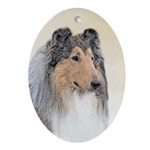 Collie (Rough) Oval Ornament
