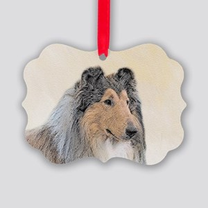 Collie (Rough) Picture Ornament