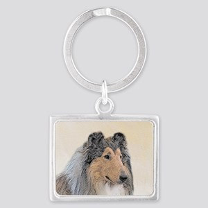 Collie (Rough) Landscape Keychain