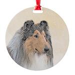 Collie (Rough) Round Ornament