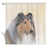 Collie (Rough) Shower Curtain