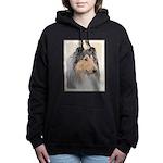 Collie (Rough) Women's Hooded Sweatshirt