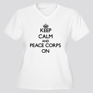 Keep Calm and Peace Corps ON Plus Size T-Shirt