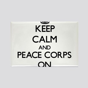 Keep Calm and Peace Corps ON Magnets