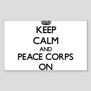 Keep Calm and Peace Corps ON Sticker