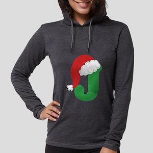 Christmas Letter J Alphabet Long Sleeve T-Shirt