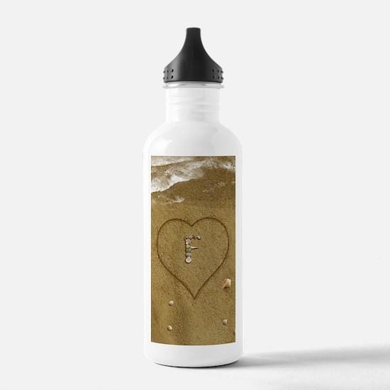 F Beach Love Water Bottle