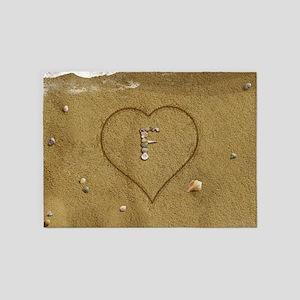 F Beach Love 5'x7'Area Rug