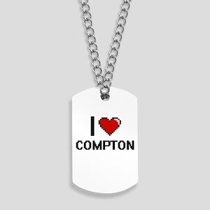 I Love Compton Dog Tags