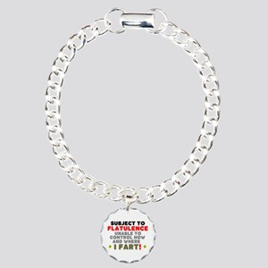 SUBJECT TO FLATULENCE - Charm Bracelet, One Charm