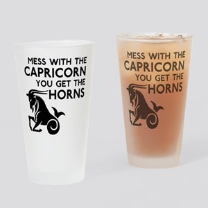 Capricorn Horns Drinking Glass