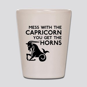 Capricorn Horns Shot Glass