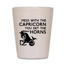 Capricorn Horns Shot Glass