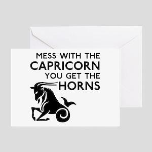 Capricorn Horns Greeting Card